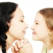 Child girl with mother playing — Stock Photo