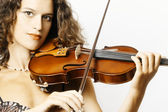Violin playing violinist musician. — Stock Photo