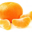 Mandarin with slice. Tangerine — Stock Photo