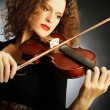 Violin player violinist woman — Stock Photo
