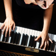 Piano playing pianist player — Stock Photo #19045323