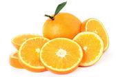 ломтик оранжевый плод. грейпфрут — Стоковое фото