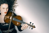 Violin playing violinist musician — Stock Photo