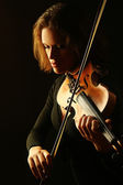 Violin player classical violinist — Stock Photo
