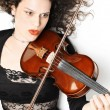 Violin playing violinist expressive musician — Stockfoto #21705855