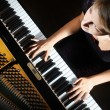 Piano playing pianist player — Stock Photo