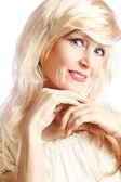 Güzel gülümseyen kadın kıdemli — Stok fotoğraf