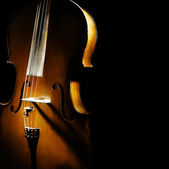 Cello orchestra musical instruments — Stock Photo