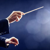 Orchestra conductor hands — Stockfoto