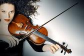 Violin player musician violinist — Stock Photo