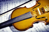 Violin with music sheet notes — Stock Photo