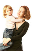 Child on mother hands — Stock Photo