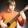 Guitar player Acoustic guitarist — Stock Photo