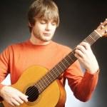 Guitar player Acoustic guitarist — Stock Photo