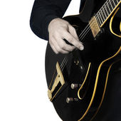 Guitar electric Guitarist playing — Stock Photo