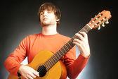 Chitarrista acustico di Guitar player — Foto Stock