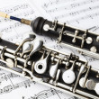 Classical music instruments oboe — Stock Photo #44073487