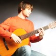 Guitar player Acoustic guitarist — Stock Photo #44073667