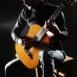 Acoustic guitar player guitarist playing — Stock Photo #45353913