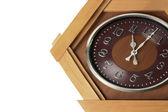 白で隔離される時計 — ストック写真