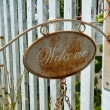 Welcome metal sign — Stockfoto