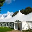 Large white party tent — Stockfoto #13519736