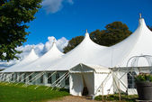 Large white party tent — Stockfoto