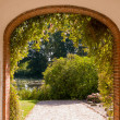 Stock Photo: Stone arch gate