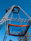 Free fall tower in amusement park — Stock Photo