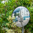 Street road safety security mirror — Stock Photo