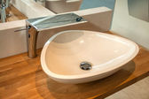 Bathroom interior with modern sink and faucet — Foto Stock