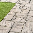 Details of  gray stone garden tiles - Photo