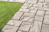 Details of gray stone garden tiles — Stock Photo