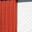 Red and white painted wood background — Photo