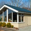 Stockfoto: Modern design attractive small wooden home