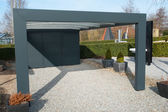 Modern carport car garage parking — Stockfoto