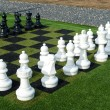 Giant street chess game — Photo