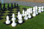 гигантские уличные шахматы игра — Стоковое фото