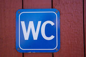 Sign of public toilets WC — Stock Photo