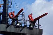 Cerrar los detalles de un bote de rescate de incendios — Foto de Stock