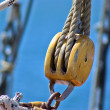 Sails ropes pulley — Stock Photo