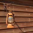 Classical rusty oil lamp — Photo