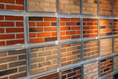 Decorative bricks on display — Stock Photo