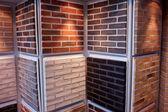 Decorative bricks on display — Stock Photo