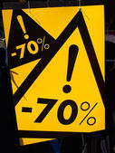 Sale sign 70 percent off the price — Stock Photo