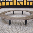 Wooden round circular bench — Stock Photo #50100257