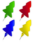 Set of color pushpins — Stock Photo