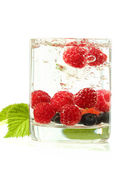 Various berries in a glass — Stock Photo