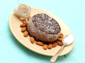 Raw vegan cake on a plate — Stock Photo