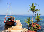Small boat in Greece — Stock Photo